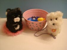 American Girl Retired Pets Coconut Westie Dog Licorice Black Cat with pillow tub