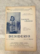 SPARTITO MUSICALE DESIDERIO A. TRUSIANO S. MAZZOCCO LA CONZONE NAPOLETANA