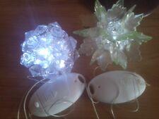 Lot de deux fleurs lumineuses - veilleuses - lumières - lampes - ambiance