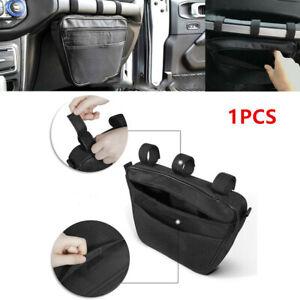Black Passenger Glove Box Storage Bag Handle Polyester Pouch for JK TJ YJ CJ JL