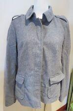 WOMENS GAP JACKET MEDIUM M GRAY Coat Wool Grey Pockets Lined