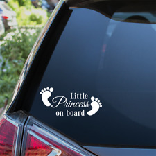 SILVER PATCH Pink DADDYS GIRL Personalised Baby on Board Car Window Sign