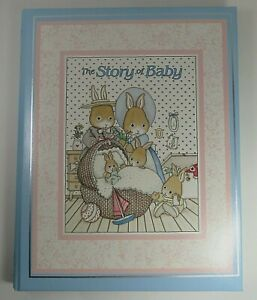 The Story of Baby CR Gibson 6 Year Baby Memory Book Bunny Rabbit - Baby Shower