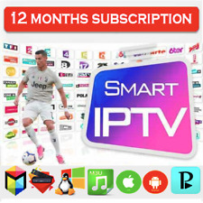 Smart IP * TV Subscription 12 mois M3U Smart TV Android MAG Firestick
