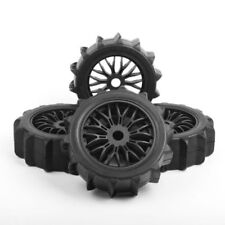 4Pcs 17mm Hex Snowfield Desert Tires Wheels Rims For 1/8 RC Off-Road Buggy Car