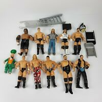 WWE Wrestling Action Figures Bulk Lot of 11 Plus Accessories Jakks