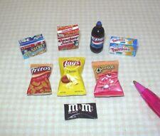 "Miniature Junk Food Assortment (SET ""B""): Chips, etc DOLLHOUSE Miniatures 1:12"