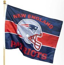 New England Patriots NFL Team Helmet Logo Flag Banner 36'' x 47''