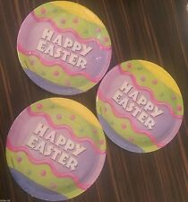 "Happy Easter 7"" paper plates 8 pack - party plates - Easter egg - Easter party"
