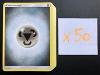 Lot de 50 Cartes Pokemon Francaises ENERGIE METAL Soleil et Lune NEUF