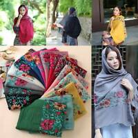 Embroidered Floral Viscose Scarf Shawl From Indian Bandana Print Cotton Scarves