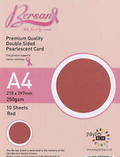 Red - Payper Box Bersan Pearlescent 10 * A4 double sided pearl card