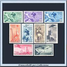 1934 Italia Regno Calcio n. 357/361+A69/72 Centrati Nuovi Integri **