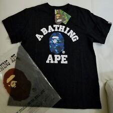 Mens A Bathing Ape Bape Black Shirt Blue Camo Size Large