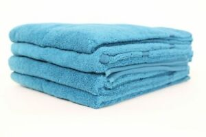 Hand Towel Set 6 Pieces 2 Guest Towels 4 Towels Cotton Petrol