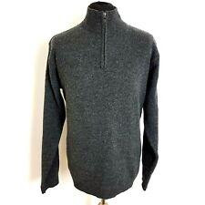 Boden Mens Jumper Size Medium 100% Lambswool Grey 1/4 Zip MK017 Pullover