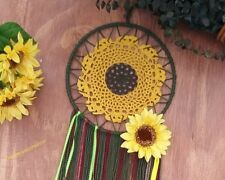 Fall sunflower wreath,Sunflower dreamcatcher,Floral decor