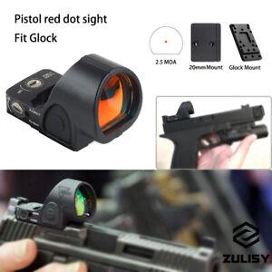 Tactical Mini Red Dot Sight Scope For Pistol Glock 17 19 + 9mm Handgun/20mm Rail