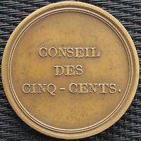 MEDAILLE REPRESENTANT DU PEUPLE - CONSEIL DES CINQ - CENTS BRONZE