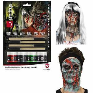 Halloween Zombie Liquid Latex SFX Makeup Kit Gore Prosthetics Face Body x 4