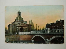 Amsterdam Muiderpoort Early 1900s Old Postcard 1911