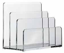 OSCO Acrylic Letter Holder 3 Slot Envelop Holder Paper Sorter Organiser Rack NEW