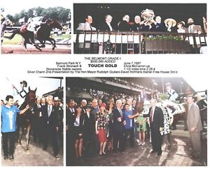 "1997 - TOUCH GOLD - 4 Photo Composite of Belmont Stakes - 10"" x 8"""