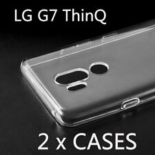 2 x Pieces - Transparent Clear TPU Rubber Phone Case Cover for New LG G7 ThinQ