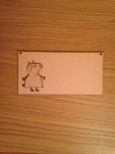 Peppa Pig Wooden Plaque Mdf Blank Plaque 200x100mm