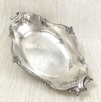 Antique Christofle Silver Plated Serving Bowl Dish french Louis XVI Rococo Trim