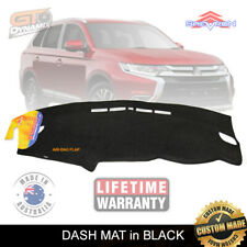 DASH MAT Mitsubishi OUTLANDER ZK ZL LS XLS EXCEED 1/2015-20 BLACK + Charc DM1394