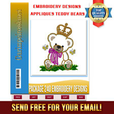 Embroidery Designs  Appliques teddy Bears for machine Brother Janome PES-JEF etc