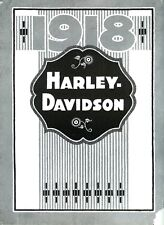 1918 HARLEY DAVIDSON MOTORCYCLE BROCHURE - ANTIQUE REPRODUCTION