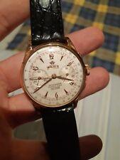Walker cronografo oro rosa 18kt anni 50 manuale 37,5 mm Landeron