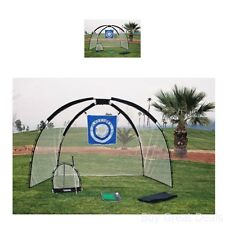 Golf Practice Set Net Hitting Driving Chipping Giant Feet Outdoor Training Aid