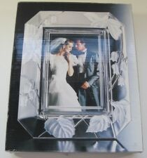 5x7 Home Beautiful Floral Frosted Glass Picture Frame Harmony Wy031/575 Nib