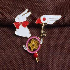 3pcs Card Captor Sakura Badge Magic Star Wings Metal Pendant Pin Cosplay Set