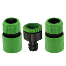 Garden Hose Pipe Tap Connector Conection Set Fitting Adaptor Hoselock Plastic