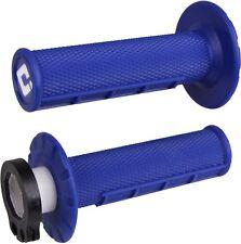 ODI LOCK ON HANDLEBAR HALF WAFFLE GRIPS BLUE HUSQVARNA FC250 FC350 FC450