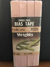 Wrights Single Fold Bias Tape Cameo #215; 4 Yards