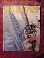 HOLIDAY August 1957 MICHIGAN MARTHA'S VINEYARD POMPEII VIETNAM LAKE GARDA