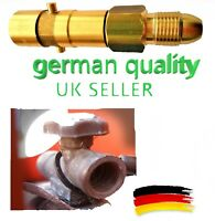 UK Bayonet LPG Filling Point refill Gas Propane Bottle POL brass Adapter NEW!!!!