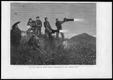 1875 - Antique Print SPAIN Civil War Carlist Night Signalling Soldiers    (29)