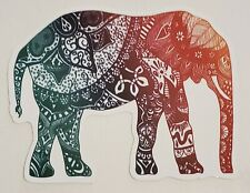 "Multicolor Patterned Elephant Sticker 3"" x 4"" Scrapbook Computer Water Bottle"