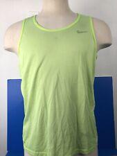 Nike Mens Size Large Neon Dri-Fit Sleeveless Active Shirt Euc