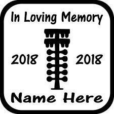 In Loving Memory Drag Race Tree Custom Vinyl Decal Sticker Car Truck Home Window