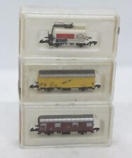 Three Marklin 8605, 8812 And 8604 Z Scale Rolling Stock Cars