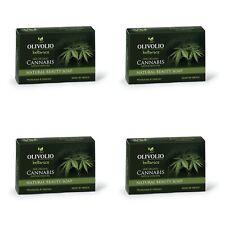 4x 100% Bio Hanföl Seife Cannabis Handseife Olivenöl Feuchtigkeit 0% Mineralöl