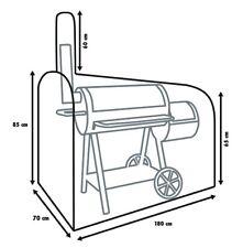 Primaster Grill Schutzhülle 150x80x190 cm für Smoker Abdeckung Grillhaube Sleeve