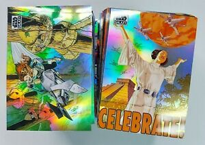 2021 Topps Star Wars Chrome Galaxy Base REFRACTOR PARALLEL Cards (Pick Your Own)